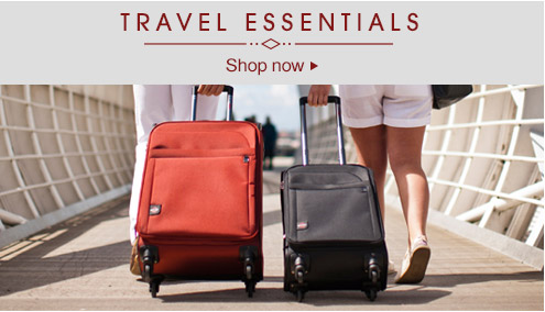 Travel essentials - shop now >