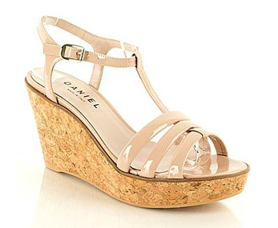 Cream Wedge Sandal