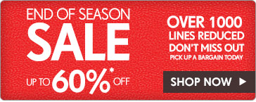 End of Season Sale – Shop Now >