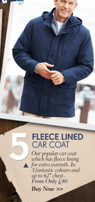 Fleece Lined Car Coat - Buy Now >