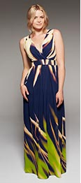 shop Project D London 'PICCADILLY' Printed Maxi Dress-Length 58in