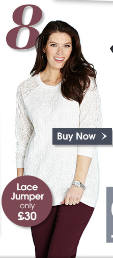 Top 8 - Lace Jumper only £30