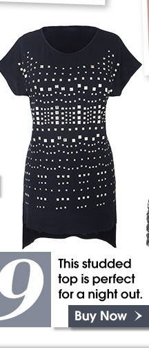 Top 9 - This studded top is perfect for a night out