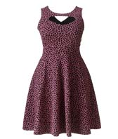 Shop Cut Out Detail Animal Print Skater Dress >