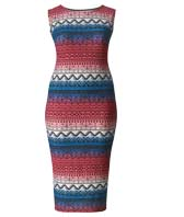Shop Folk Print Bodycon Dress >