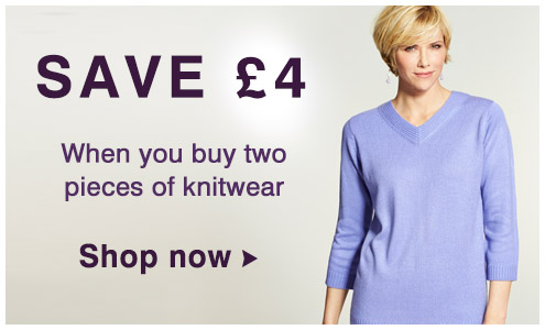 Save £4 on Knitwear