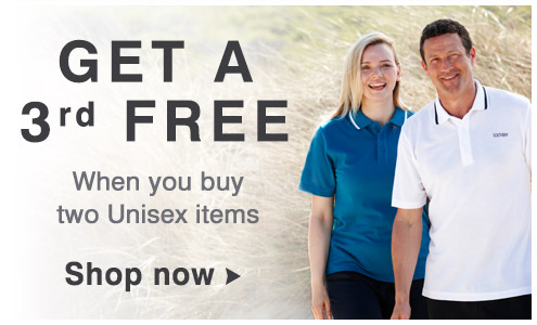 Get a third free on unisex items