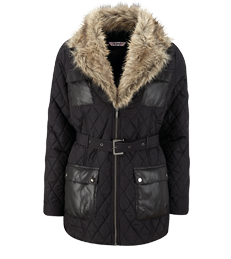 Joe Browns Quilted Jacket with Faux Fur Lining