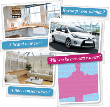 A brand new car? Revamp your kitchen? A new conservatory? Will you be our next winner?