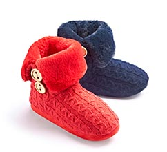 Fluffy Bootee Slipper