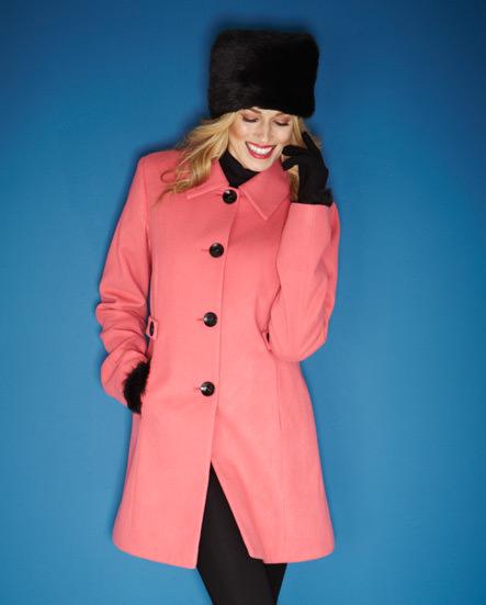 Pink coat >