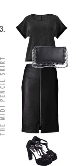 the midi pencil skirt
