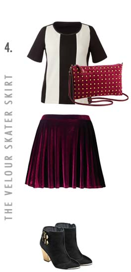 the velour skater skirt