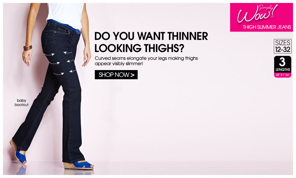 Shop Thigh Slimmer Jeans