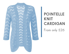 Pointelle Knit Cardigan - From only £26 >