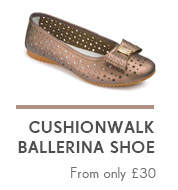 Cushionwalk Ballerina Shoe - From only £30 >