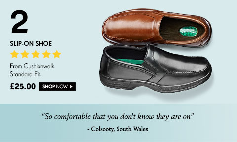 Slip-On Shoe From Cushionwalk. Standard Fit. £25.00