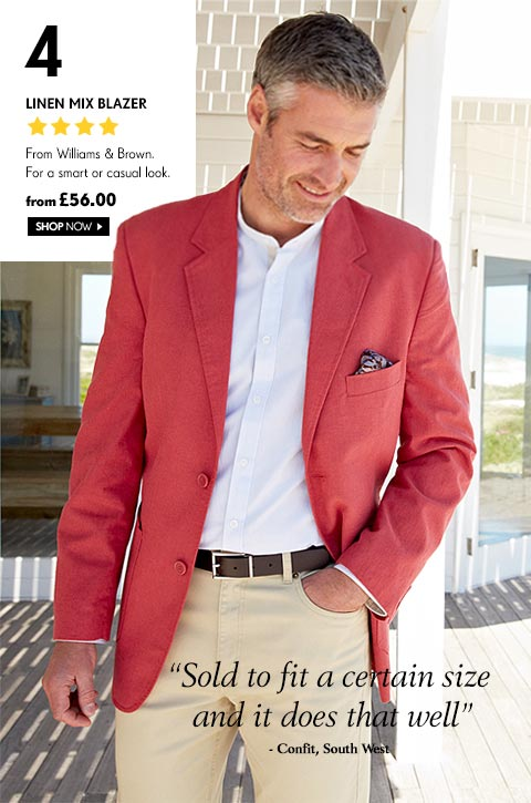 Linen Mix Blazer From Williams & Brown. For a smart or casual look. from £56.00