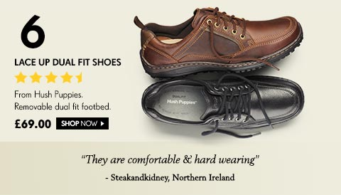 Lace Up Dual Fit Shoes From Hush Puppies. Removable dual fit footbed. £69.00