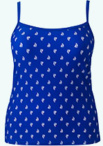 Blue Patterned Tankini