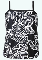 Black Flower Tankini