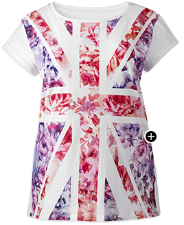 Union Jack Flower T-Shirt