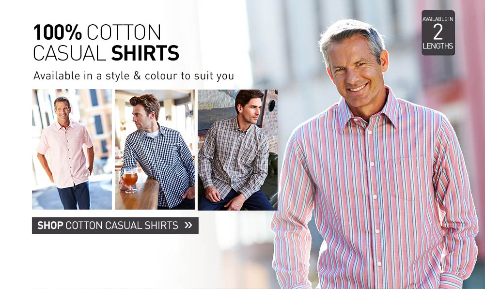 100% Cotton Casual Shirts