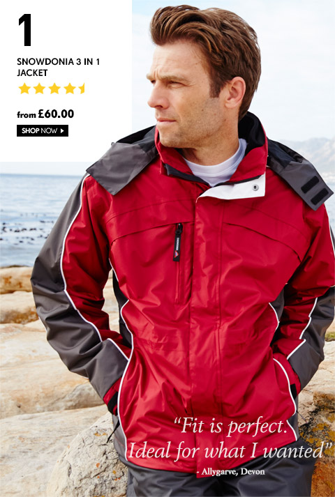 Snowdonia 3 in 1 Jacket – from £60.00