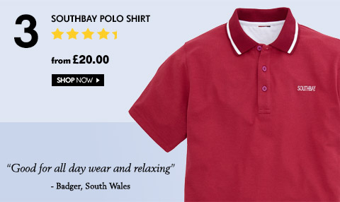 Southbay Polo shirt – from £20.00