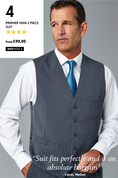 Premier Man 3 Piece Suit – from £90.00