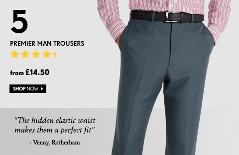 Premier Man Trousers – from £14.50