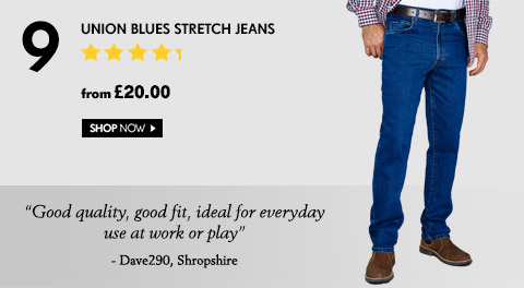 Union Blues Stretch Jeans – from £20.00