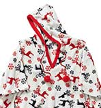 Pretty Secrets Deer Print Fleece Poncho