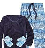 Pretty Secrets Fair Isle Print Pyjamas