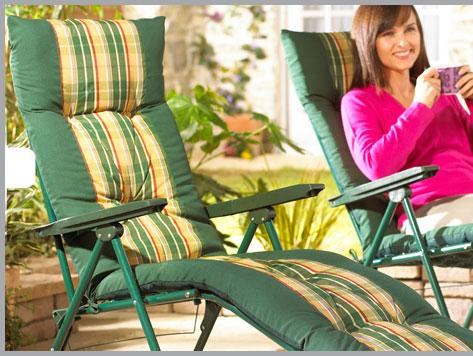 Deluxe garden recliner £79.95