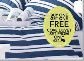 Cove duvet set from only £24.95