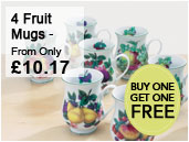 4 fruit mugs