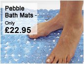 Pebble bath mats
