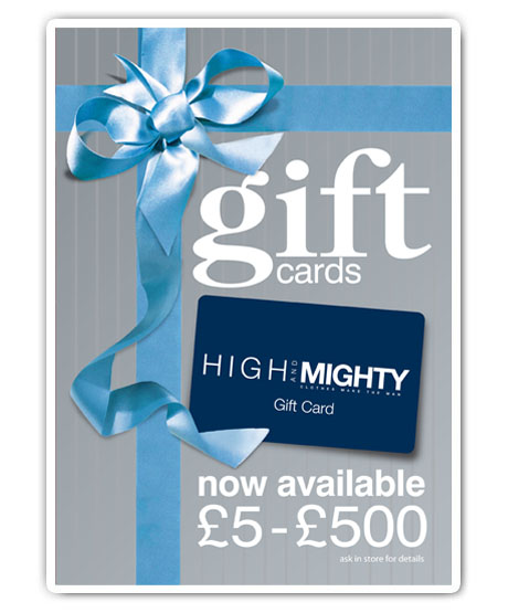 Gift cards from £5-£500 available in store