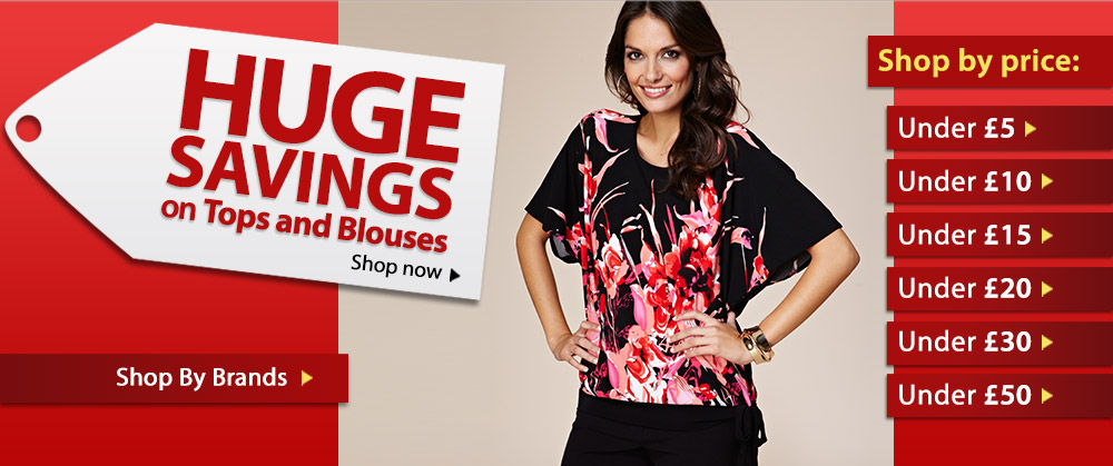 HUGE SAVINGS on Tops &amp; Blouses - Shop now &gt;