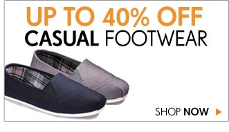 Up to 40% off Casual Footwear 