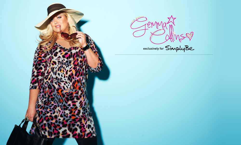 Gemma Collins exclusively for Simply Be