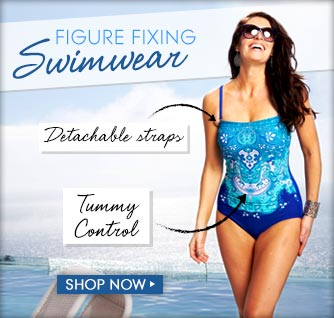 Figure flattering swimwear