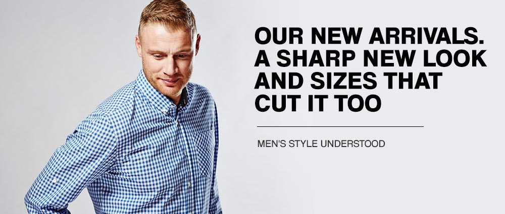 A SHARP NEW LOOK AND SIZES THAT CUT IT TOO