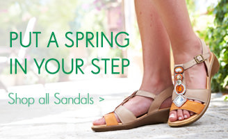A Spring in your step - Shop now >