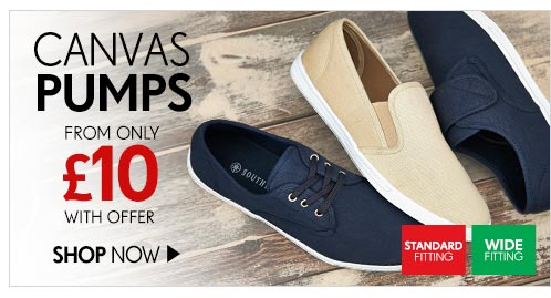 Canvas Pumps from only £10 with offer - Shop Now
