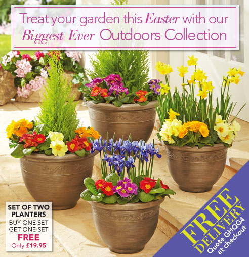 Treat your garden this Easter with our Biggest Ever Outdoors Collection >