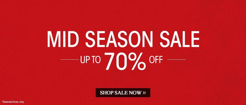 Mid Season Sale »