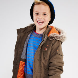 KD MINI Boys Parka Coat (2-7 years)