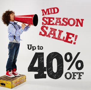Mid Season Sale - Up to 40% off!